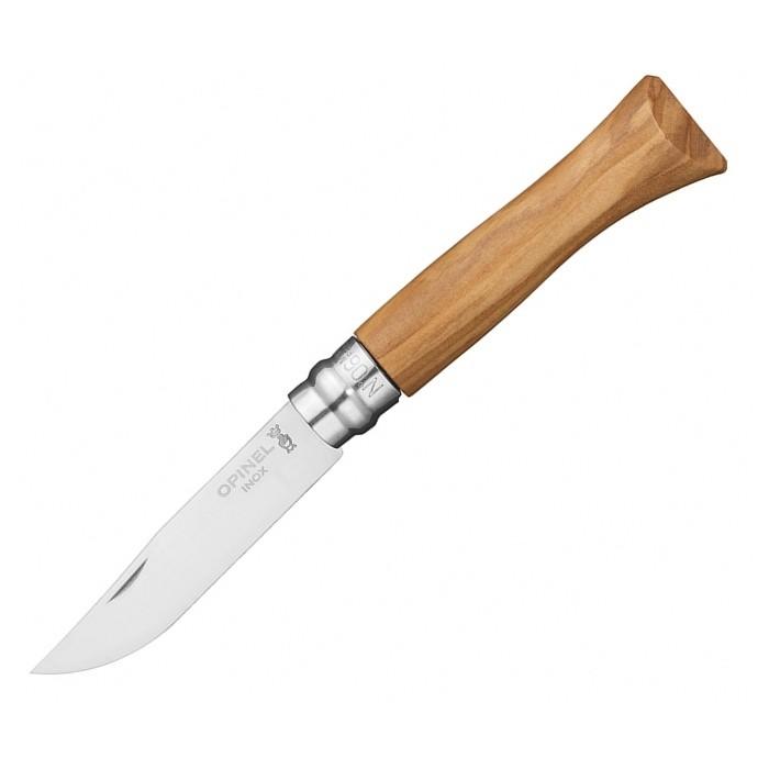 Нож Opinel 6VRI, нержавеющая сталь, рукоять из оливкового дерева в картонной коробке 002023