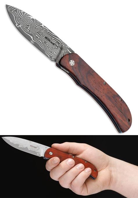 Ножи складной Boker Exskelibur I Cocobolo Damast 01bo222DAM