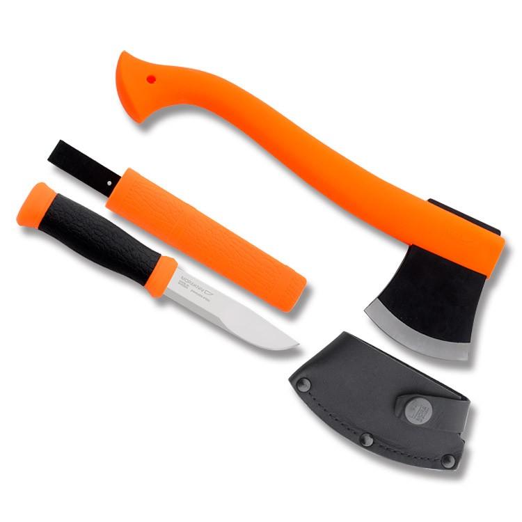 Набор Morakniv Outdoor Kit MG, нож Mora 2000 + топор (оранжевый), арт. 12096