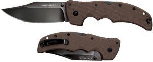 Купить нож Cold Steel модель 27TLCVF Recon 1 Clip Point Dark Earth дешево