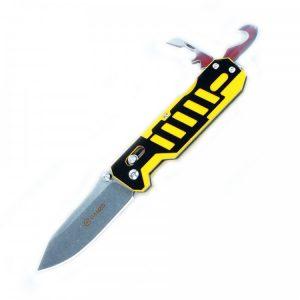 Купить Нож Ganzo G735 (черный, зеленый, оранжевый, черно-желтый), арт. G735-YB