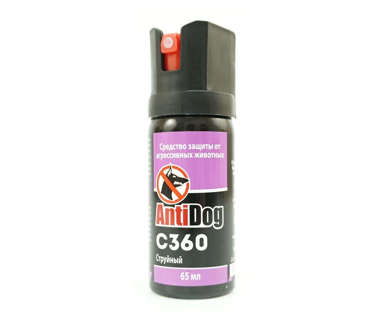Газовый баллончик AntiDog «С 360», 65 мл