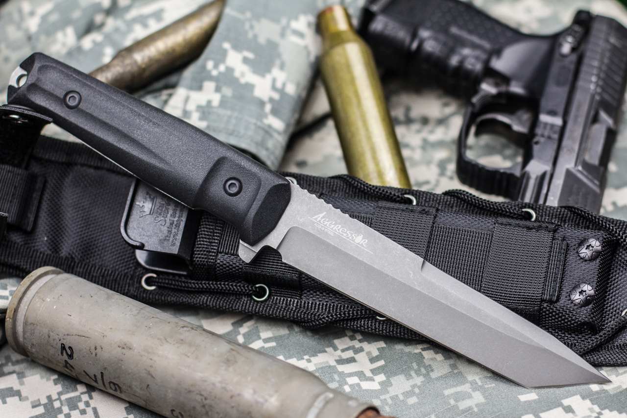 Нож Kizlyar Supreme Aggressor AUS8 TacWash