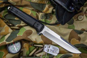 Нож Kizlyar Supreme Alpha AUS8 Satin StoneWash