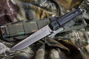 Нож Kizlyar Supreme Alpha D2 Satin StoneWash