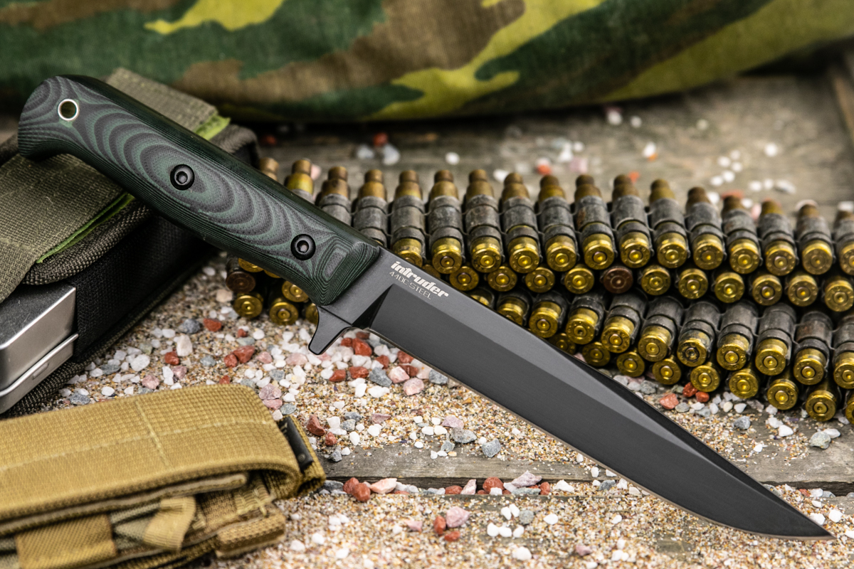 Нож Kizlyar Supreme Intruder 440C Black Titanuim