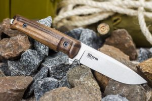 Нож Kizlyar Supreme Sturm AUS8 StoneWash Орех