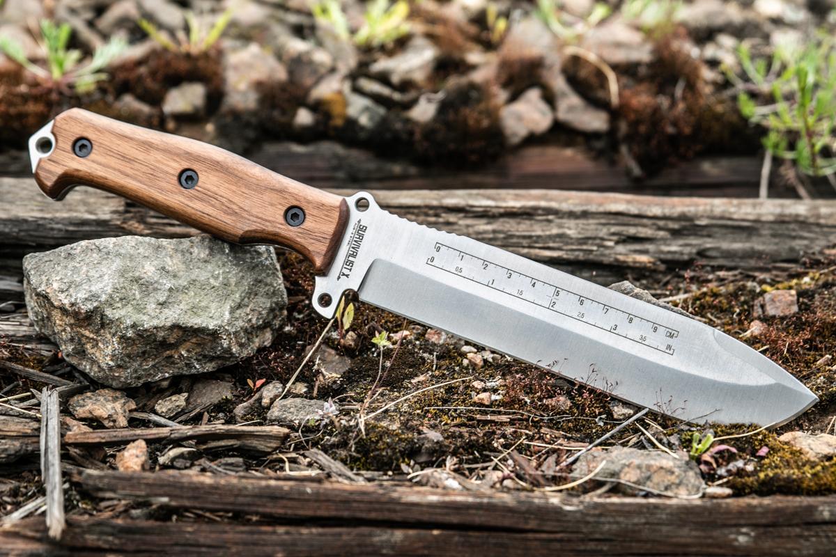Нож Kizlyar Supreme Survivalist X AUS8 StoneWash Орех