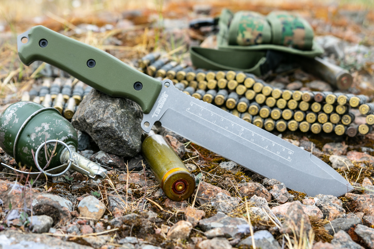 Нож Kizlyar Supreme Survivalist X AUS8 TacWash Green