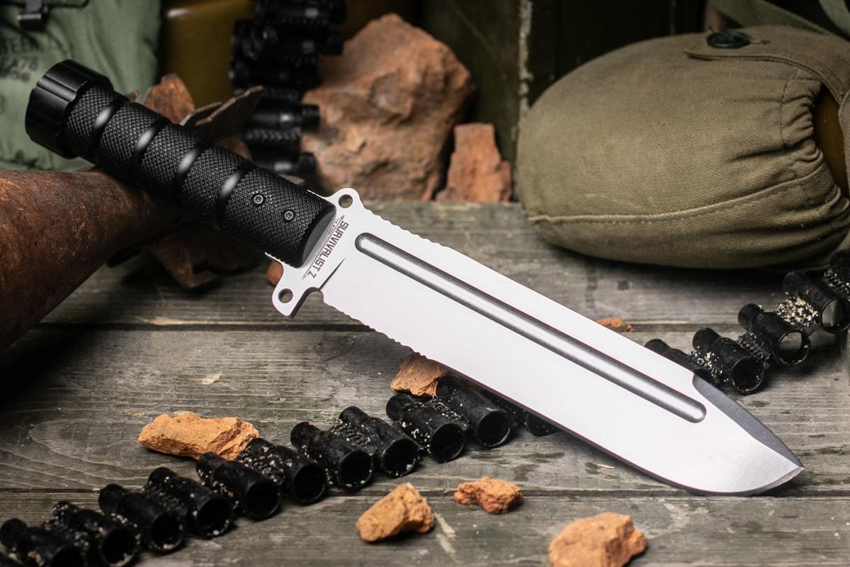 Нож Kizlyar Supreme Survivalist Z D2 StoneWash (Serrated)
