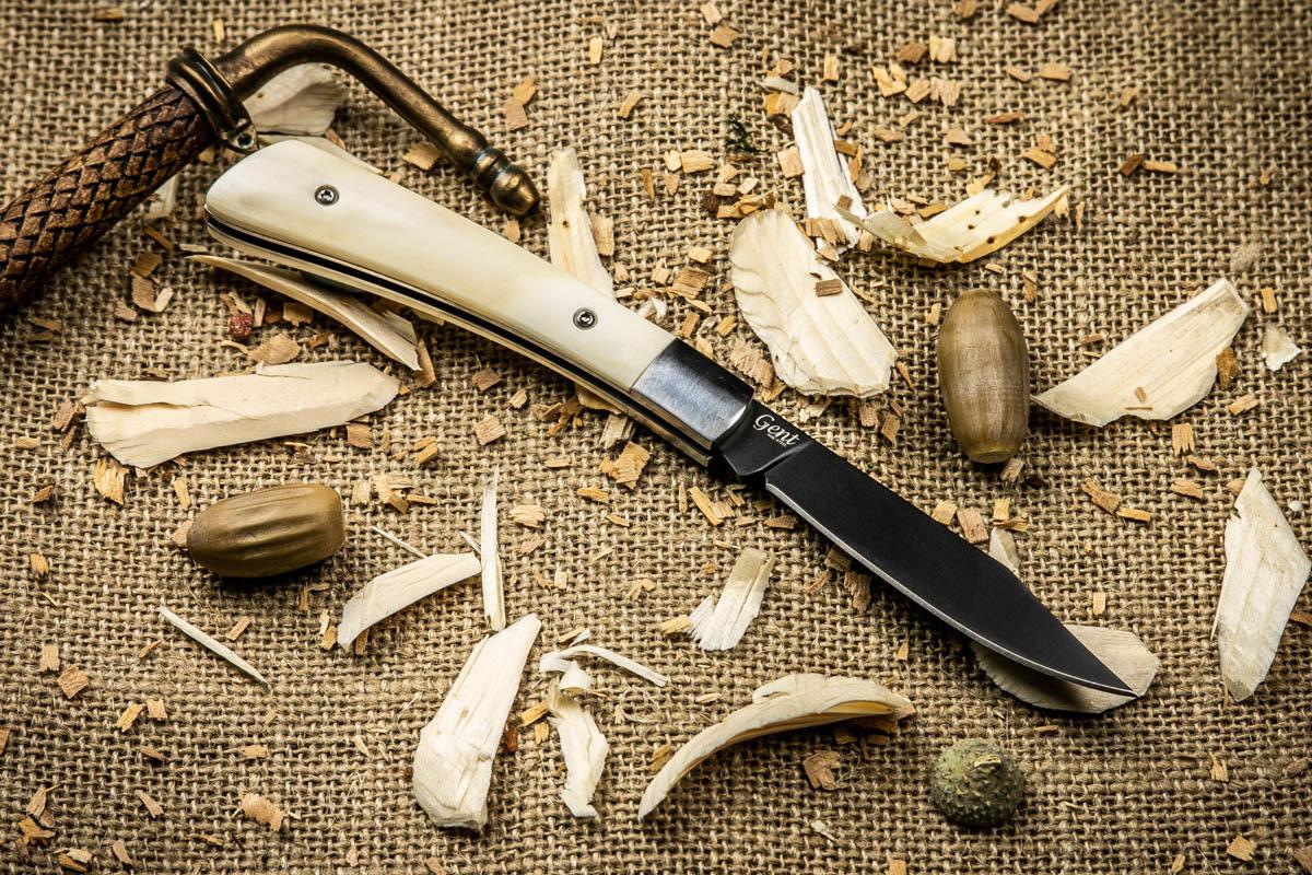 Нож складной Kizlyar Supreme Gent 440C Bone Black Titanium