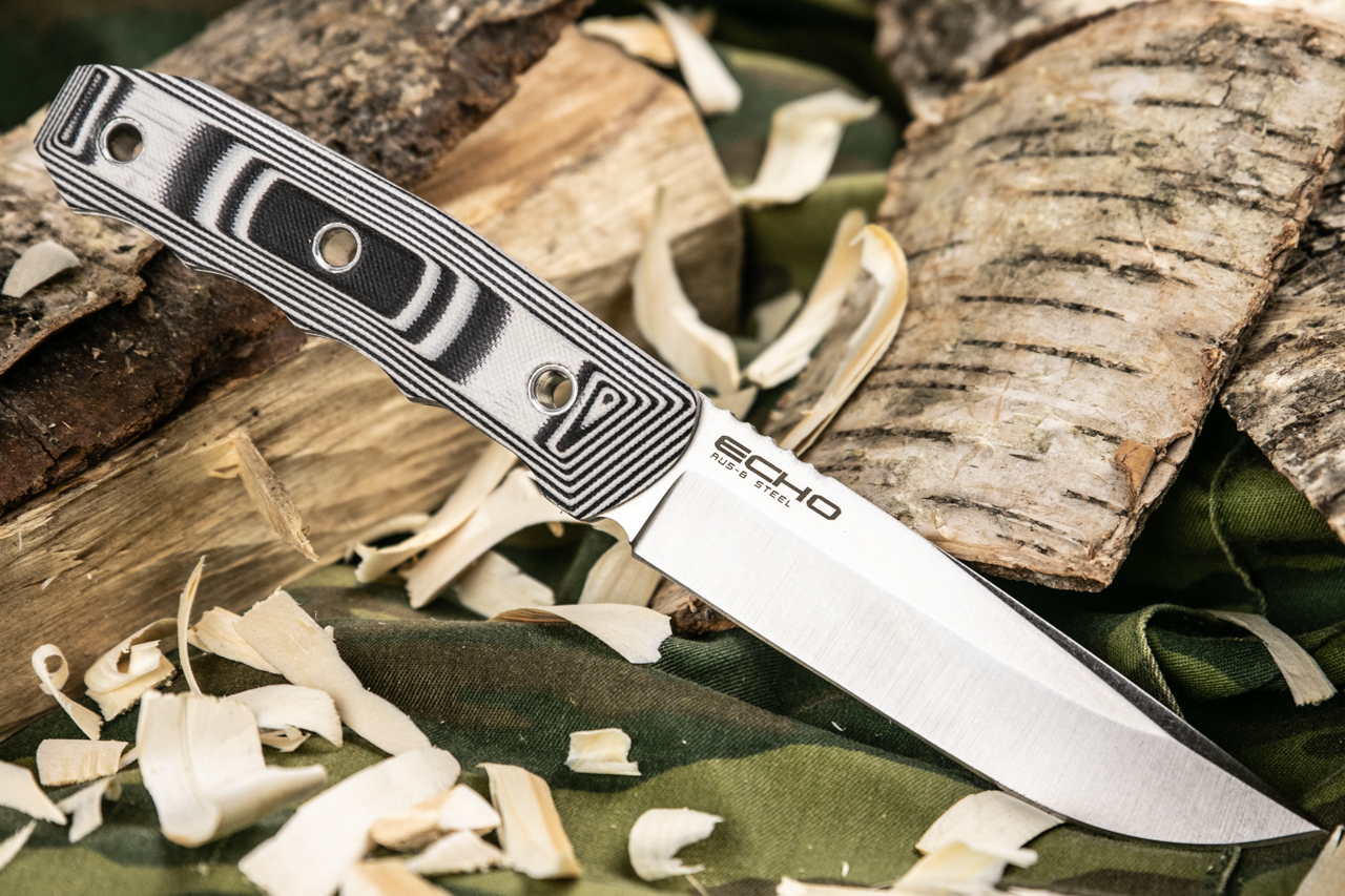 Нож Kizlyar Supreme Echo AUS8 StoneWash