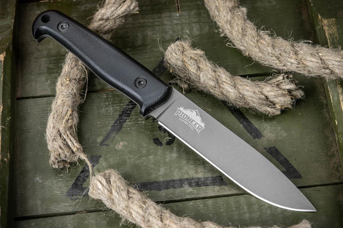 Нож Kizlyar Supreme Pioneer Sleipner TacWash Черный