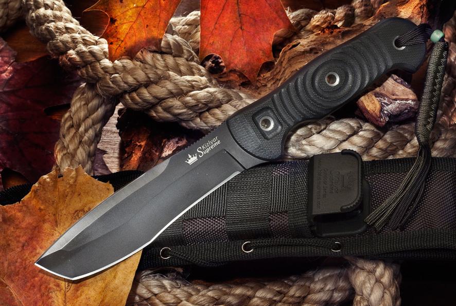 Нож Kizlyar Supreme Vendetta AUS8 Black Titanium