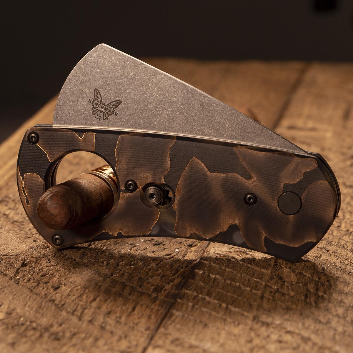 Нож гильотина для сигар Benchmade Cigar Cutter Gold Class 1500 1913