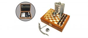 Фляжка нержавеющая Viking Nordway FL8-23N11 с шахматным набором и штопором