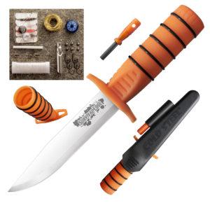 Нож с фиксированным клинком COLD STEEL 80PH SURVIVAL EDGE (ORANGE)
