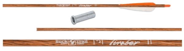 Стрела лучная карбоновая 33 Buck Trail Timber 350 (натуральное перо) min