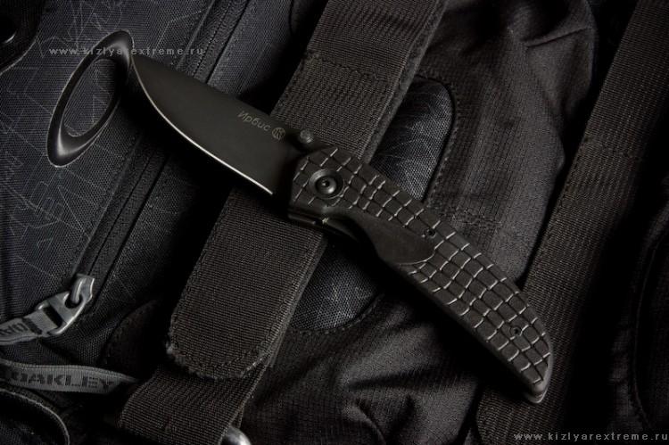 Нож складной Ирбис Черный Эластрон