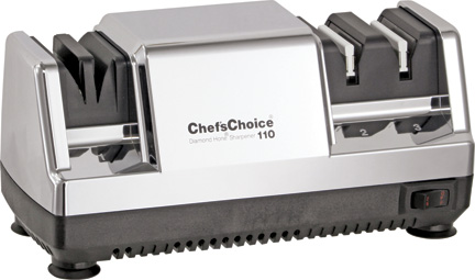 Электрическая точилка для заточки ножей Chef's Сhoice 110Н (Хром)