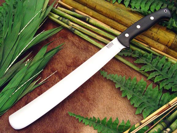 Нож Bark River Golok модель Upswept Black Canvas Micarta
