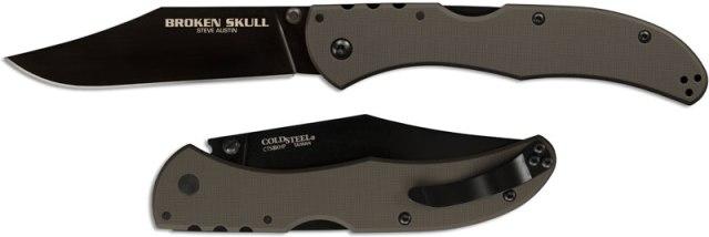 Купить нож Cold Steel модель 54SBG Broken Skull 4 OD Green недорого