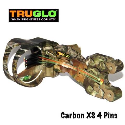 Прицел для блочного лука Truglo Carbon XS Камуфляж 4 pin