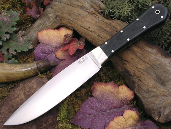 Нож с фиксированным клинком Rogue Black Canvas Micarta