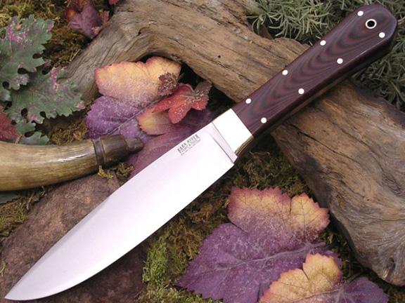Нож с фиксированным клинком Rogue Maroon Linen Micarta
