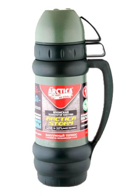 Термос для напитков Арктика 109-1000М (зелёный)